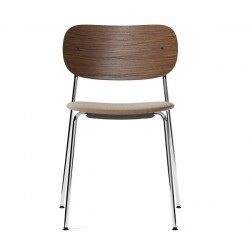 Menu Co Chair Upholstered Seat Chrome