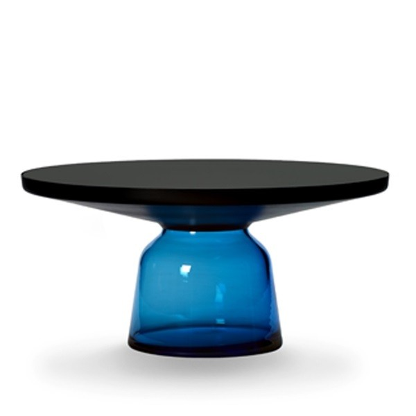 ClassiCon Bell Coffee Table Black Burnished Steel Blue Sapphire