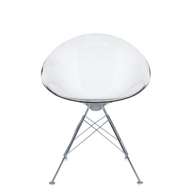 Kartell Eros Chair Transparent Crystal