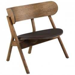 Northern Oaki Chair Lounge - Leather Seat