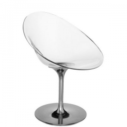 Kartell Eros Swivel Chair Transparent Crystal