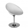 Kartell Eros Swivel Chair Glossy White