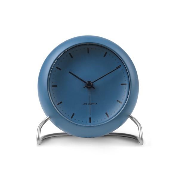 Rosendahl Arne Jacobsen City Hall Table Clock Stone Blue