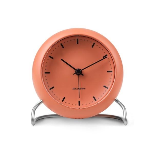 Rosendahl Arne Jacobsen City Hall Table Clock Pale Orange