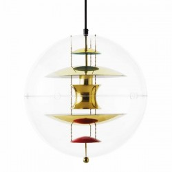 Verpan VP Globe Brass Pendant Light
