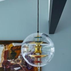 Verpan VP Globe Brass Pendant Light