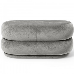 Ferm Living Pouf Oval Faded Velvet