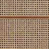 NLXL Cane Square Webbing Mahogany