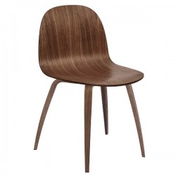 GUBI 2D  Un-upholstered Wood Chair