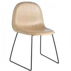 GUBI 3D Un -Upholstered  Sledge Base Chair