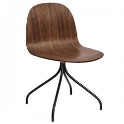 GUBI 2D Meeting Chair Un-Upholstered Swivel Base