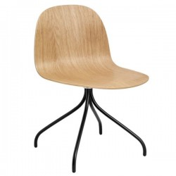 GUBI 2D Meeting Chair Un-Upholstered Swivel Base
