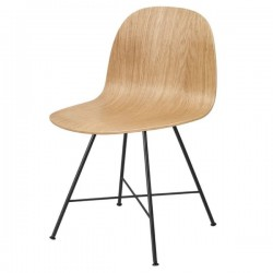 GUBI 2D Dining Chair- Un-Upholstered, Center Base
