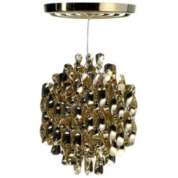 Verpan Spiral SP1 Gold Pendant Light