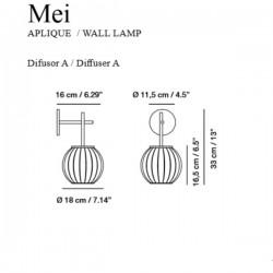 Carpyen Mei Wall Lamp
