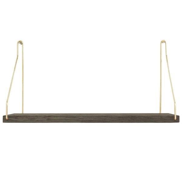 Frama Shelf Dark D20 W40 | Brass Brackets