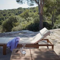 Skagerak Riviera Sunbed Cushion Golden Sunset Stripes