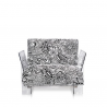 Kartell Pop Seater Missoni Cartagena black and white