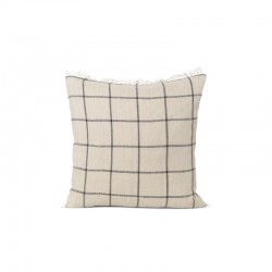Ferm Living Calm Cushion Camel Black 50 x 50cm
