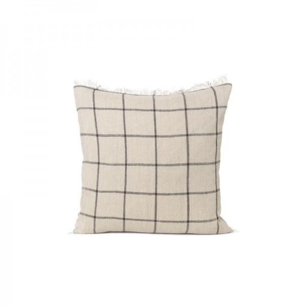 Ferm Living Calm Cushion Camel Black 50 x 50cm