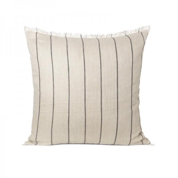 Ferm Living Calm Cushion Camel Black 80 x 80cm