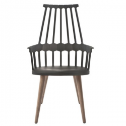 Kartell Comback Chair Wooden Legs Black / Oak legs