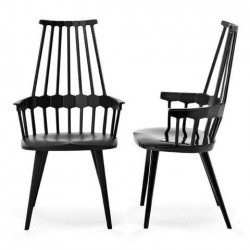 Kartell Comback Chair Wooden Legs