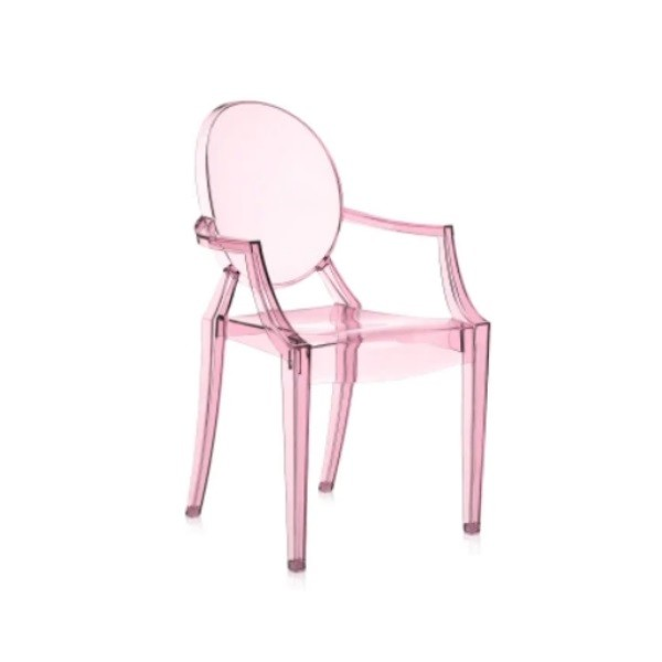 Kartell Lou Lou Ghost Children's Chair Pink Sale