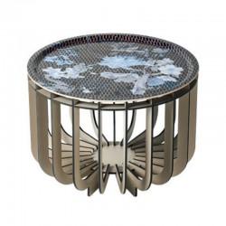 Ibride Medusa Vibration Sapphire Grey Coffee Table 46