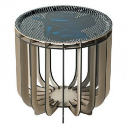 Ibride Medusa Vibration Sapphire Grey Coffee Table 39