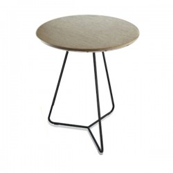 Lapalma Linea Table Blanched Oak, Black Legs Sale