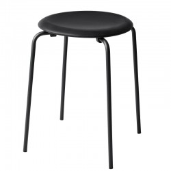 Fritz Hansen Dot Stool Monochrome Black Cowboy Leather