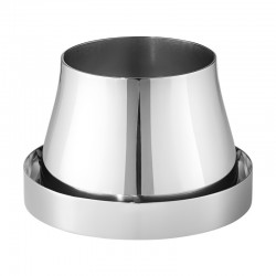 Georg Jensen Terra Pot & Saucer Stainless Steel