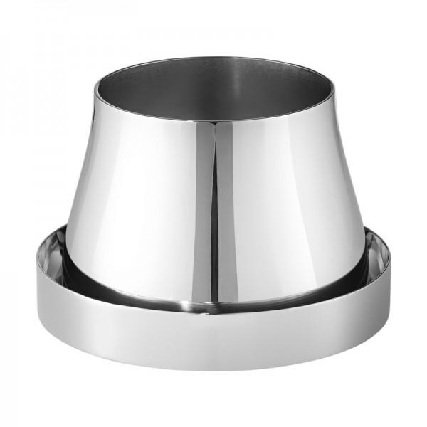 Georg Jensen Terra Pot & Saucer Stainless Steel