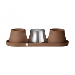 Georg Jensen Terra Tray & Set Of Three Pots