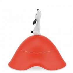 Alessi Lula Dog Bowl Red Orange