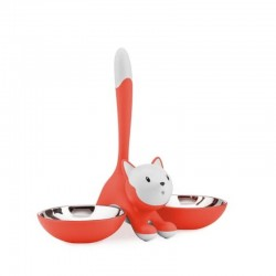 Alessi Tigrito Cat Bowl Red Orange