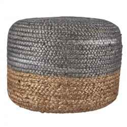 House Doctor Pouf silver gray natural brown