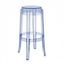 Kartell Charles Ghost Stool Large Blue