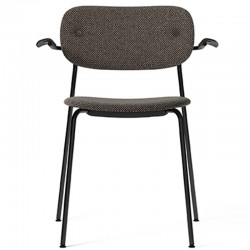Menu Co Chair, fully upholstered with armrest, Black