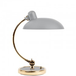 Fritz Hansen Kaiser Idell Table Lamp Matt Grey /Brass