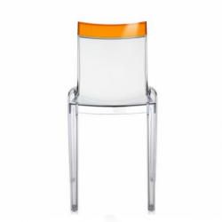 Kartell Hi-Cut Chair Crystal - Orange
