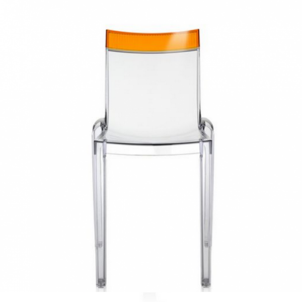 Kartell Hi-Cut Chair Crystal - Orange