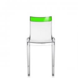 Kartell Hi-Cut Chair Crystal - Green
