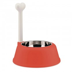 Alessi Lupita Dog Bowl Red Orange