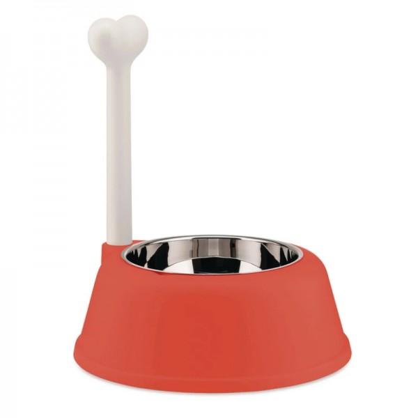 Alessi Lupita Dog Bowl Red Orange