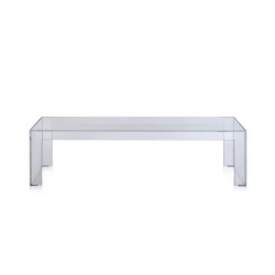 Kartell Invisible Side Table Low Crystal
