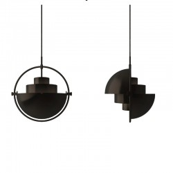 Gubi Multi-lite Pendant Lamp Black/Brass
