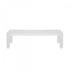 Kartell Invisible Side Table Low Glossy white