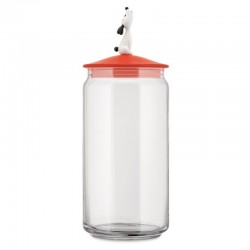 Alessi Lula Jar for Dog Food Red Orange
